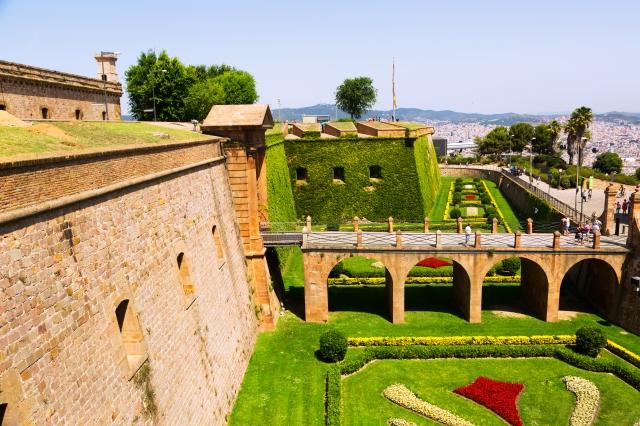 Montjuic Castle in Barcelona. Sant Ferran Castle built in 1640-1799