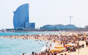 Barceloneta Beach in summer