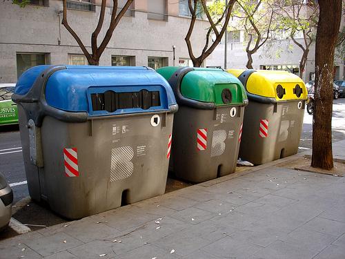 Barcelona Recycling Bins